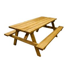 6' Brown Pressure Treated Picnic Table Kit