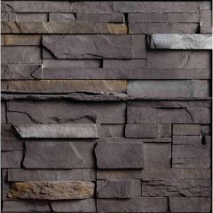 Newport Black Rundle Flat Stone