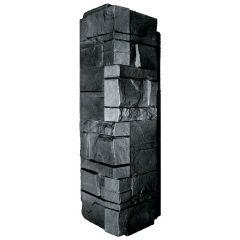 Novik Stacked Stone Corner - Onyx