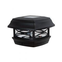 Solar Black Plastic 4 Inch Standard Post Cap