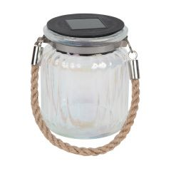 Solar Small Iridescent Jar Assortment With Rope Handles