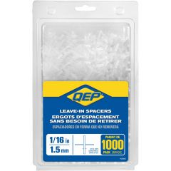 "1/16"" Leave-In Hard Style Tile Spacers- 1000/Jar"