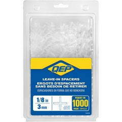 """1/8"""" Leave-In Hard Style Tile Spacers- 1000/Jr"""