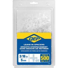 "3/16"" Leave-In Hard Style Tile Spacers- 500/Jar"