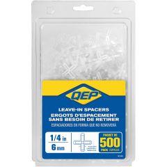 "1/4"" Leave-In Hard Style Tile Spacers- 500/Jar"