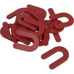 """1/8"""" Horseshoe Shim Tile Spacers -150/Pail"""
