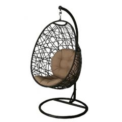 Swing Chair With Beige Fabric