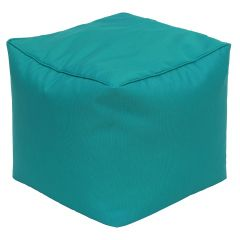 Turquoise Square Hassock