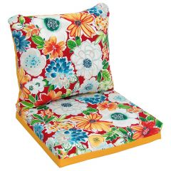 Reversable Floral Deep Seat Cushion