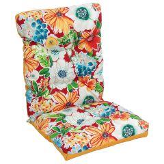 Reversable Floral High Back Cushion