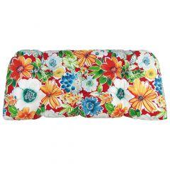 Reversable Floral Loveseat Cushion