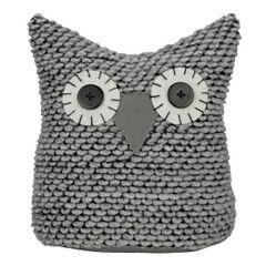 """8"""" x 9"""" Grey Owl Doorstop"""