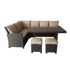 Stanhope Banquet Set(5pcs set) With Beige Fabric