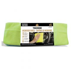 Tremor General-Purpose Microfiber Cloths (35.5x35.5cm) -6 Pk