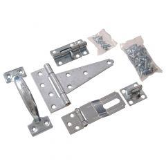 Zinc Plated Barn Hardware Kit