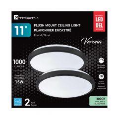 11'' LED Verona Flushmount Ceiling Fixture-2/Pack