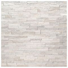 Arctic White Mini Ledger Panel Natural Marble Wall Tile