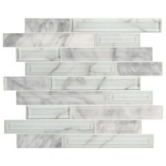 Blocki Interlocking Glass Stone Mosaic Tile