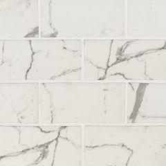 "3""x6"" Statuario Celano Glass Mosaic Tile 9.4 Sq-Ft/Box"