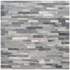 "4.5""x16""Alaska Gray Ledger Natural Marble Tile 5 Sq-ft/Box"