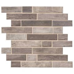 Driftwood Interlocking Glass Mosaic Tile