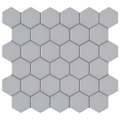 Retro Hexo Gray Porcelain Mosaic Tile