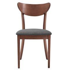 Lira Side Chair Walnut And Grey- 2/Pack