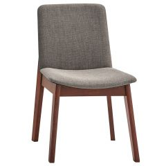 Torro Side Chair Walnut And Grey- 2/Pack