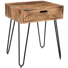 Jaydo Accent Table- Natural Burnt