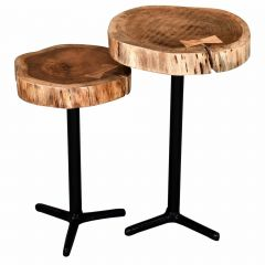 Keya 2 Piece Accent Table- Natural