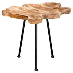Pari Accent Table- Natural With Black Leges