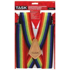 Full Elastic Rainbow Suspenders
