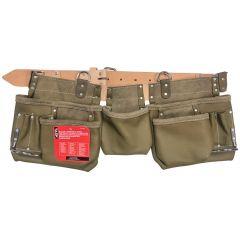 Olive Green 11 Pocket Master Carpenter Apron