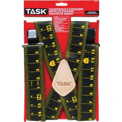 Full Elastic Tape Measure Pattern Suspenders