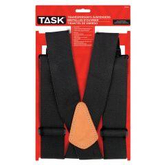 Full Elastic Black Suspenders