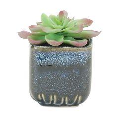 Small Blue Square Pot