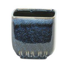 Medium Square Blue Pot