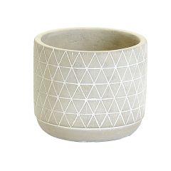 Medium Concrete Pot Triangle Pattern