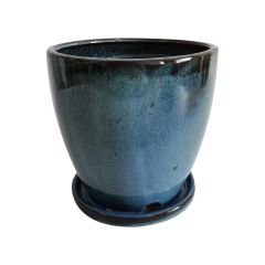 Ceramic Pot With Saucer