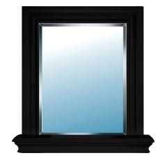 "24"" x 29"" Black Metropolitan Bevelled Mirror"