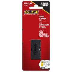 OLFA 40mm Stainless Steel Glass Scraper Blades-6/Pack
