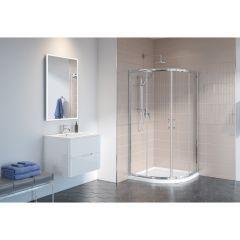 Chrome Frame Clear Glass Capri Round 4 Shower Door