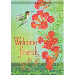 Hummingbird Enchantment Garden Flag