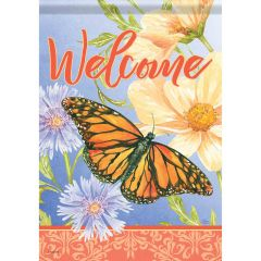 Misty Meadow Butterfly Large Flag