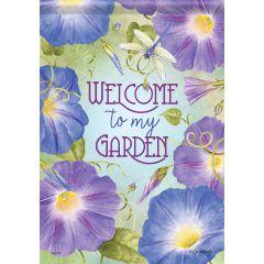 Morning Glory Garden Flag