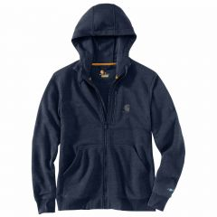 Full Zip Hooded Short Sleeve Navy Heather