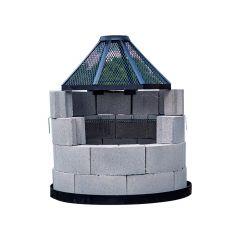 BBQ Firepit Round Block