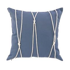 "Blue Rope Trim 17"" x 17""  Cushion"
