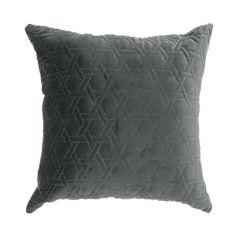 "Dark Grey 15"" x 15"" Velvet Cushion"