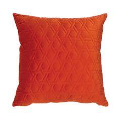 """Burnt Orange 16"""" x 16"""" Stitched Velvet Cushion"""